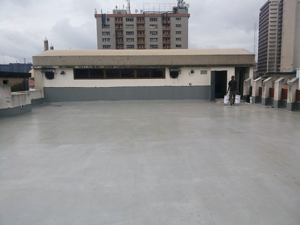 Ereko methodist church roof terrace waterproofing for Terrace waterproofing