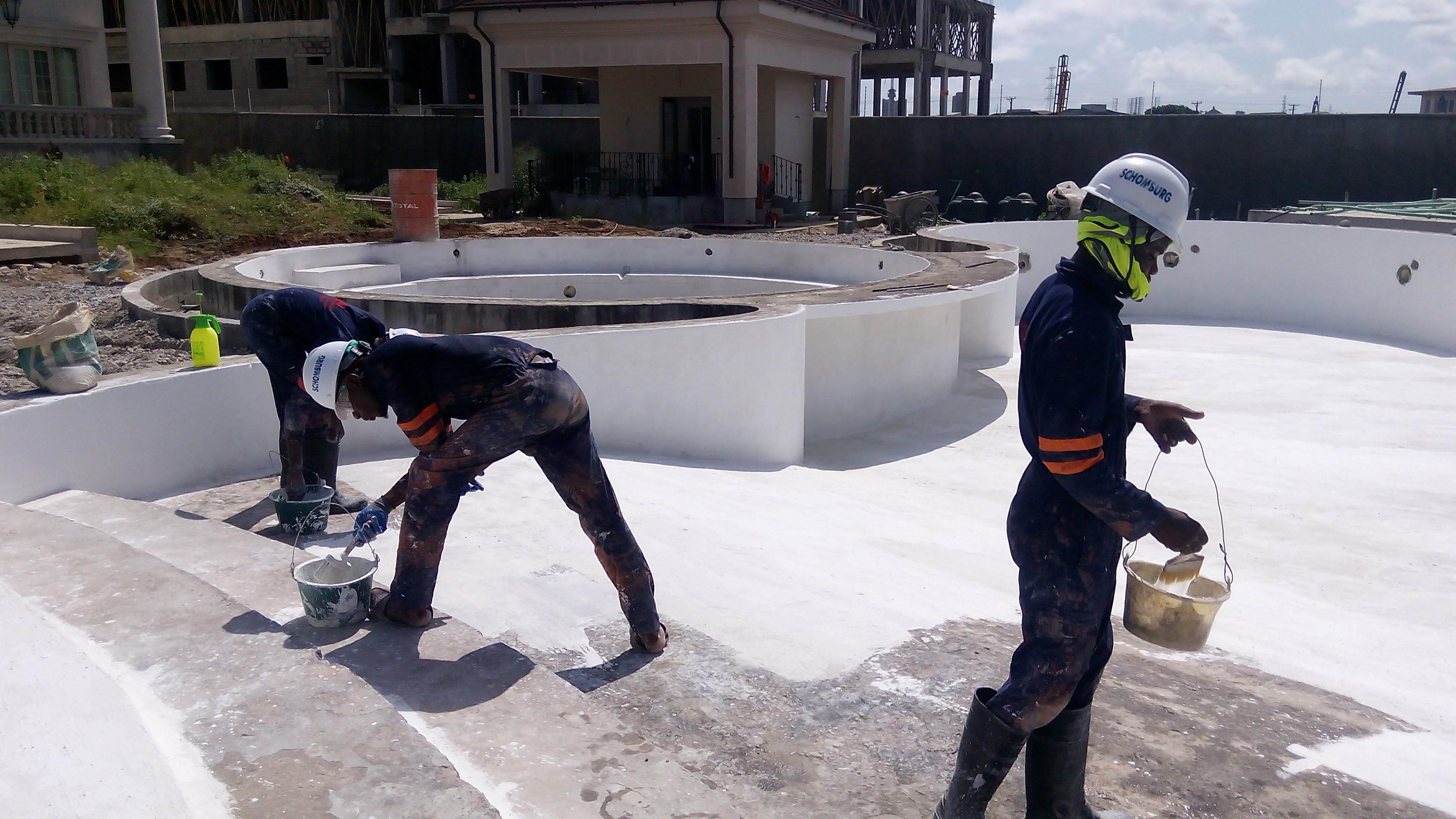 Advanced concrete waterproofing construction chemicals